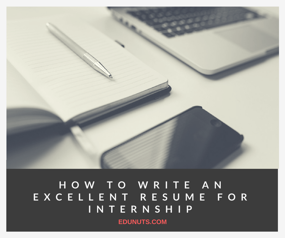 how to write a brilliant resume for an internship