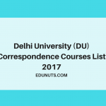 Delhi University Correspondence (SOL) Courses List 2017 [Updated]