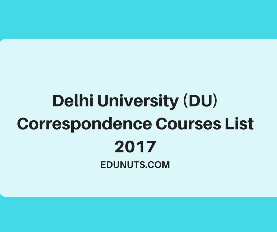 correspondence from delhi university